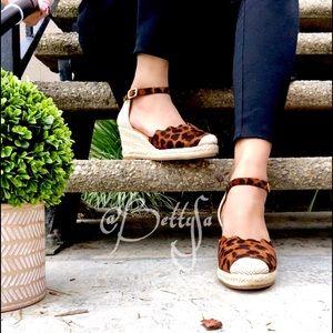 Shoes - Faux Leopard print espadrilles Sandal